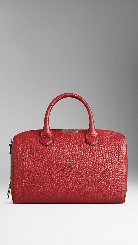 Mittelgroße Bowlingtasche aus genarbtem Burberry-Leder | Burberry