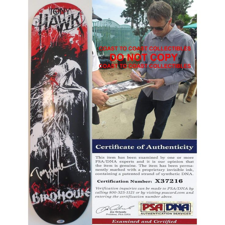 Tony Hawk, Signed, Autographed, Birdhouse Skateboard Deck, PSA/DNA, COA with the Proof Photo of Tony Signing Will Be Included.