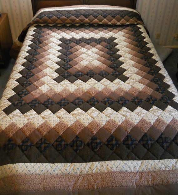 Hey, I found this really awesome Etsy listing at https://www.etsy.com/listing/186270572/brown-king-sized-hand-quilted-trip