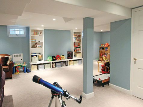 Playroom in a finished basement.. WOOT WOOT! Make all the messes you want my sweet babies!!