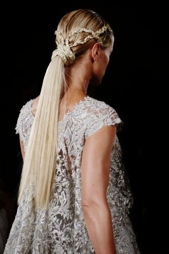: Fall Hairstyles, Braids Hairstyles, Ponytail, Inspiration, Fashion Week, Fashion Hairstyles, Marchesa, Hair Style, Beauty