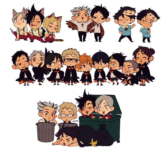 Haikyuu Party Animals Stickers · Rainbowthinker · Online Store Powered by Storenvy