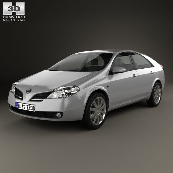 Nissan Primera hatchback 2002 3d model from Humster3D.com..