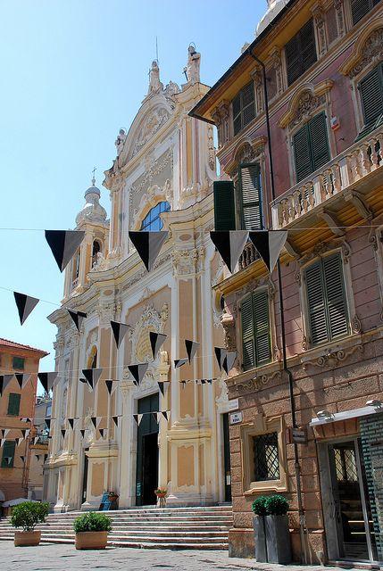 The Basilica of San Giovanni Battista in Finale Ligure (Province of Savona)