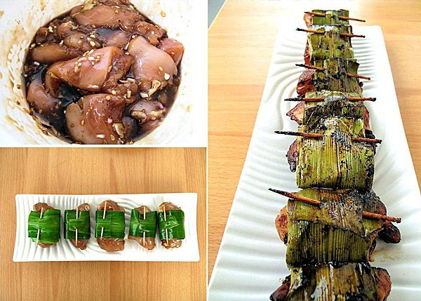 Pandan Wrapped Chicken. I've made this twice now and it's fantastic.