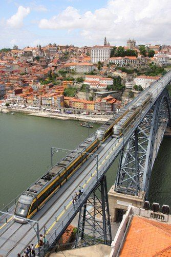 Train bridge at Porto, Portugal
