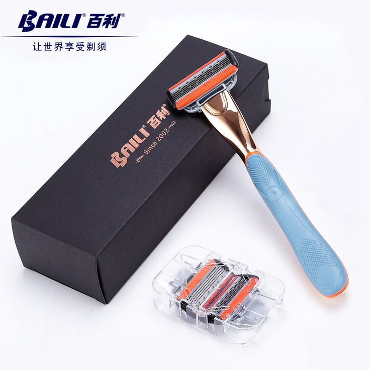 Brand Baili 5 Layer Safety Razor Blades For Man 1 Handle +3 Heads Razor Knife Blade Shaving High Quality Men Shaver Gift