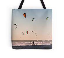 Kitesurfers Sunset World Tote Bag