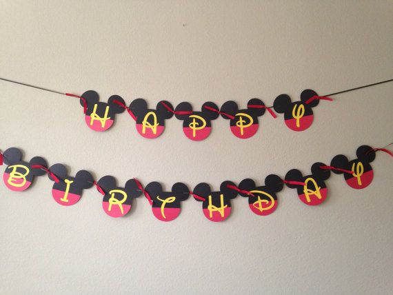 Your childs birthday party will be the Talk of the Town with this Mickey Mouse Clubhouse inspired birthday banner!   This order is for a Mickey