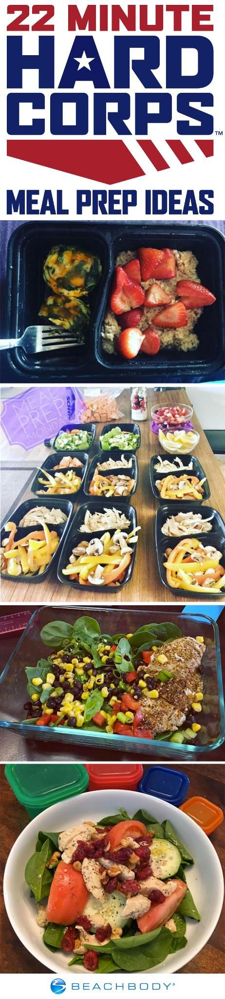Take a look at how people are meal prepping for 22 Minute Hard Corps and get tips, inspiration, and recipes for your very own meal prep! // Beachbody // BeachbodyBlog.com