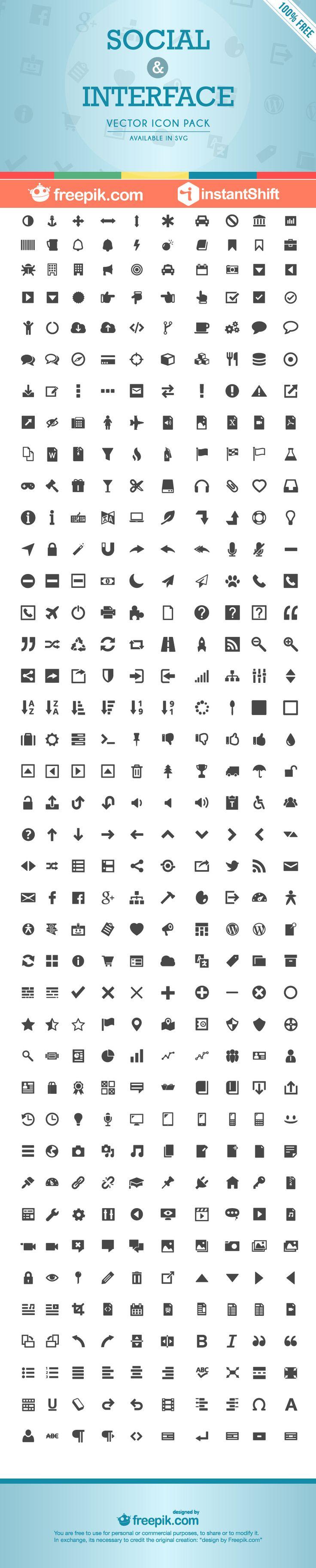 Interfaz - Social & Interface Icon Set