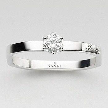 オクタゴナル ソリテール リング - GUCCI(グッチ)の婚約指輪(エンゲージメントリング) グッチのエンゲージリングをまとめました!