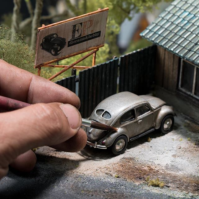 EP Diorama and Hobby Store   Taking commission job and scratch built   Shipped worldwide : Email for enquiries   email link in my profile    #miniature #diorama #eddieputera #scaleart #scalebuilder #scalemodel #scaleartist #dioramaset #dioramaclub #dioramaclub #volkswagen #vw #vwcombi #vwbeetle