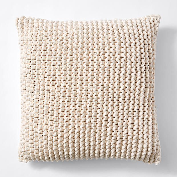 Picardy Knitted Cushion 45cm - Stone
