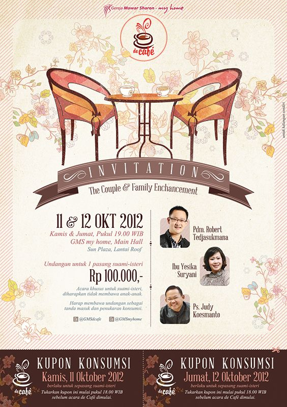 deCafe Invitation for Couple & Family // 2012
