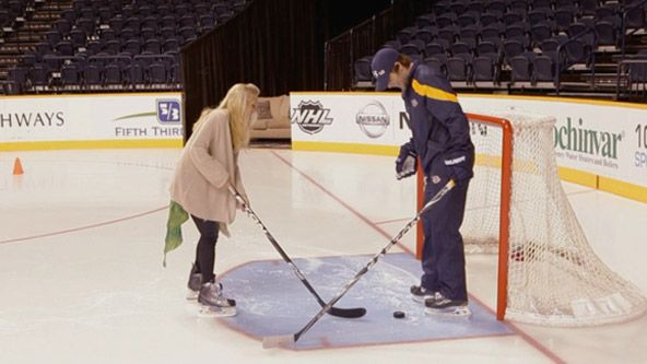 Mike fisher and Carrie Underwood so adorable!
