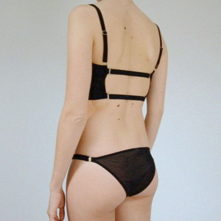 The Longline bra & the sheer brief. More on www.thenudelabel.com