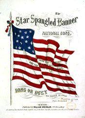 Star Spangled Banner - slideshow with lyrics, worksheet
