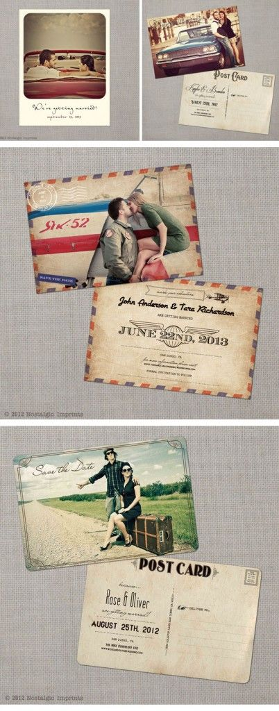 Nostalgic Imprints, Vintage Hochzeitseinladungen, Vintage Wedding  Invitations