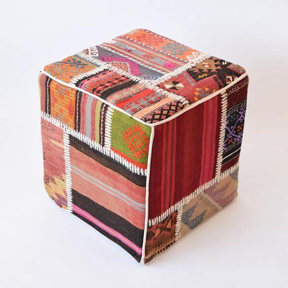 patchwork, pouf, poef, bohemian ottoman, footstools, mobilier bohème, turkish pouf, kilim, kilim pouf covers, poefs, kelim möbelstoff, beanbag, bean bag furniture, bean bag, bohemian bean bag, kilim rug ottomans, kilim beanbags, turkish tapestry, pouf cover, rug pouf, rug footstool, handmade poufs, kelim pouf, tribal pouf, bohemian home decor, bohemian poufs, marrocan tapestry, hand made ottoman, marokkaanse pouf, kelim footstool, Boho
