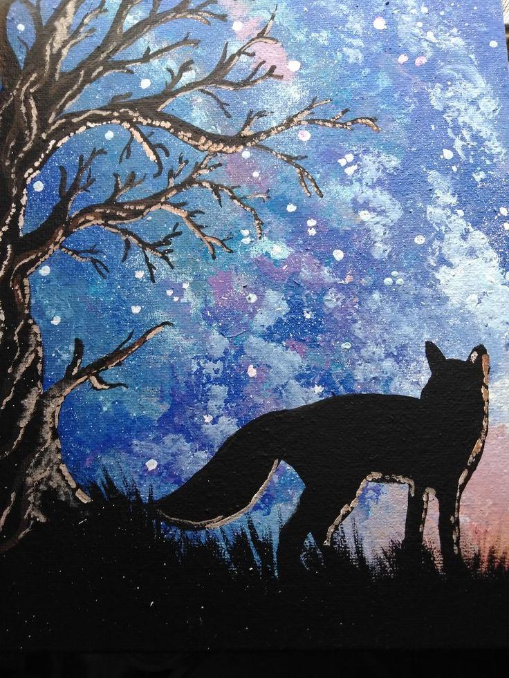 Beginner S Painting Ideas Acrylics Night Sky Nature