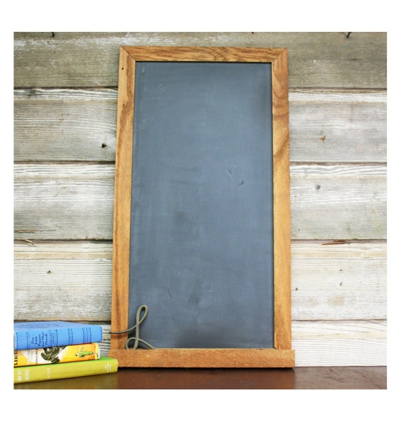 this beautiful woodframed chalkboard is twosided