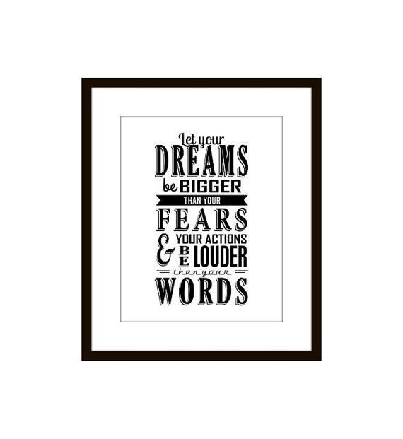 Typographic Print, Inspirational, Motivational Quote Wall Art, Black and White #Christmas #thanksgiving #Holiday #quote