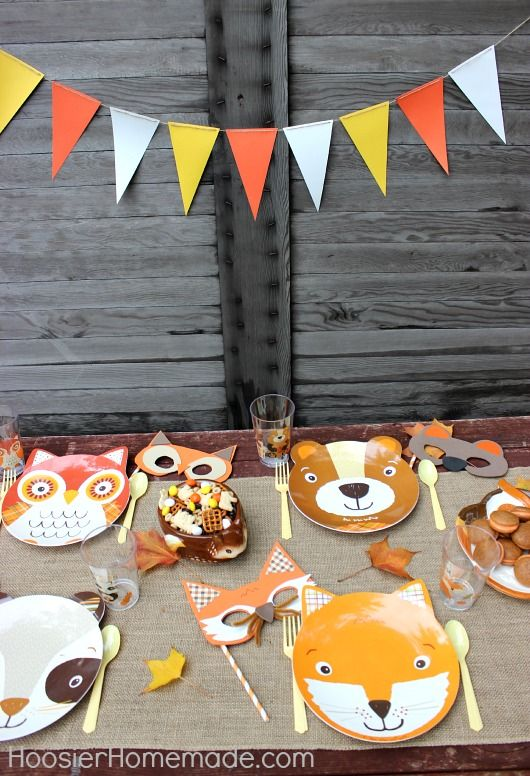 Fall Party for Kids with Woodland Creature Mask Tutorial :: Available on HoosierHomemade.com: Fall Party for Kids with Woodland Creature Mask Tutorial :: Available on HoosierHomemade.com