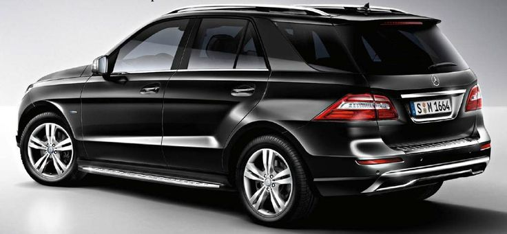 2012 ML350 Obsidian Black Running Boards Standard Wheel