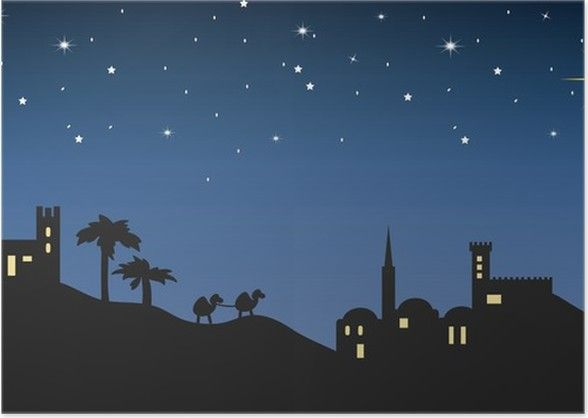 Christmas Eve Bethlehem 2020 background night bethlehem Poster • Pixers®   We live to change in