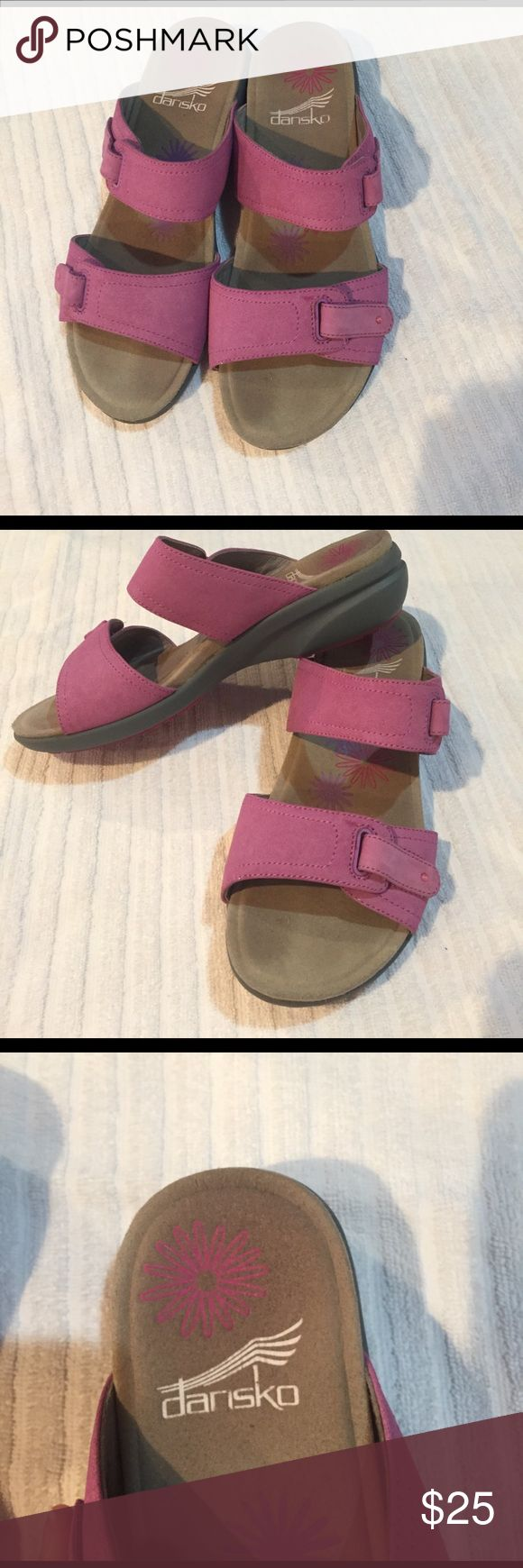 Gently used Dansko sandals adjustable! Size 36! Purple box Dansko collection features a soft foot bed with optimal arch support. Lilac color size 36 Dansko Shoes Sandals