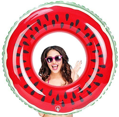 """#beachaccessoriesstore Watermelon Pool Float - Giant Inflatable Watermelon Pool Ring for Adults, 40"""" x 40"""":… #beachaccessoriesstore"""