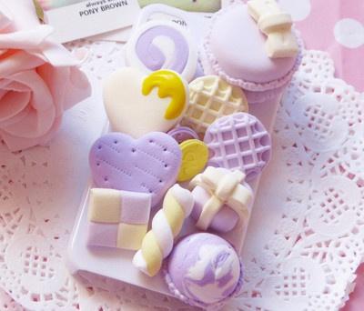 japanese cream 3d macaron handmade iphone case diy phone shell deco den kits pu. Black Bedroom Furniture Sets. Home Design Ideas