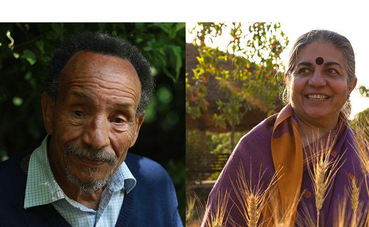 Rencontre Pierre Rabhi et Vandana Shiva