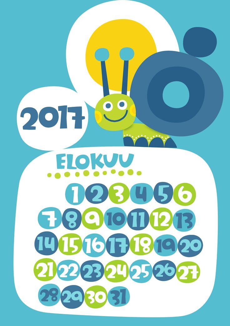 Elokuu 2017 | free | printable | pattern | lasten | lapset | askartelu | kalenteri | vuosikalenteri | seinäkalenteri | tulostettava | paperi | koti | sisustus | kids | children | crafts | home | paper | calendar | Pikku Kakkonen