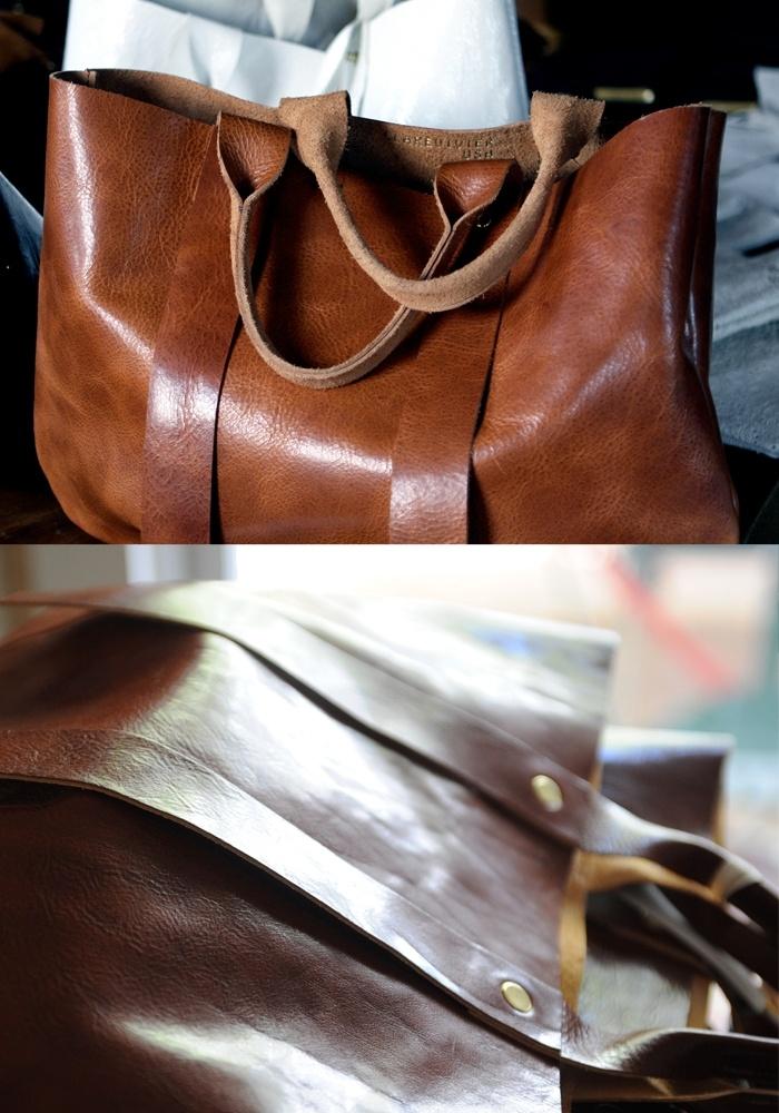 La Tropezienne tote leather bag by Clare Vivier