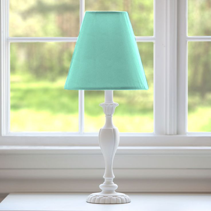 Solid Teal Lamp Shade #carouseldesigns