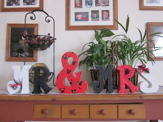Disney wedding decor Custom wood letters wedding centerpiece personalized wedding gift