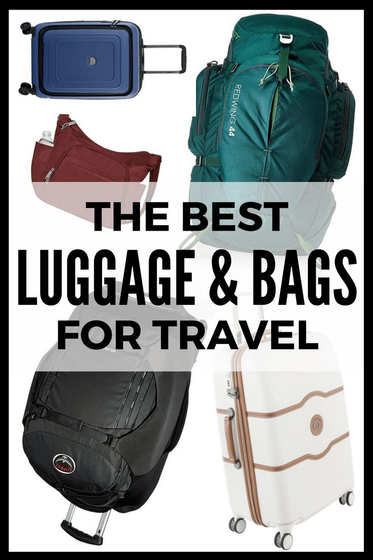 The best luggage and bags for travel