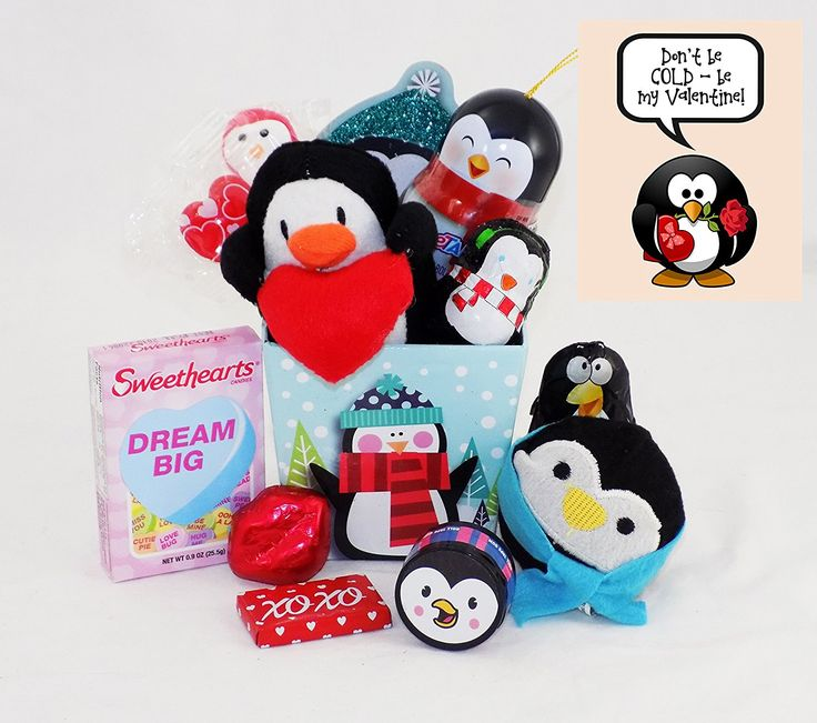 Don't Be COLD - Be My Valentine! Penguin Valentine's Day Toy and Candy Gift Basket * More info could be found at the image url.