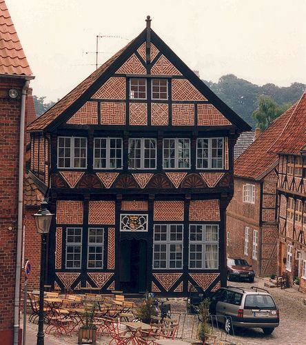 Molln house, dated 1582    A house in Molln, Germany, dated 1582. Molln was the last home of Til Eulenspiegel, a legendary jester/ prankster who lived from 1300(?) to 1350.  Molln was ruled by Lubeck of the Hanseatic League from 1359 to 1683.