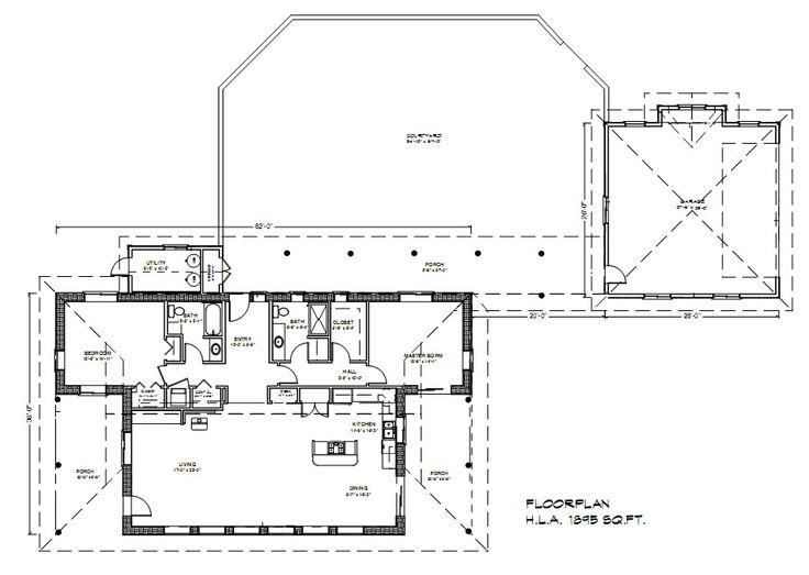 42 best houseplans 1800 1899 images on pinterest floor for Straw bale garage plans
