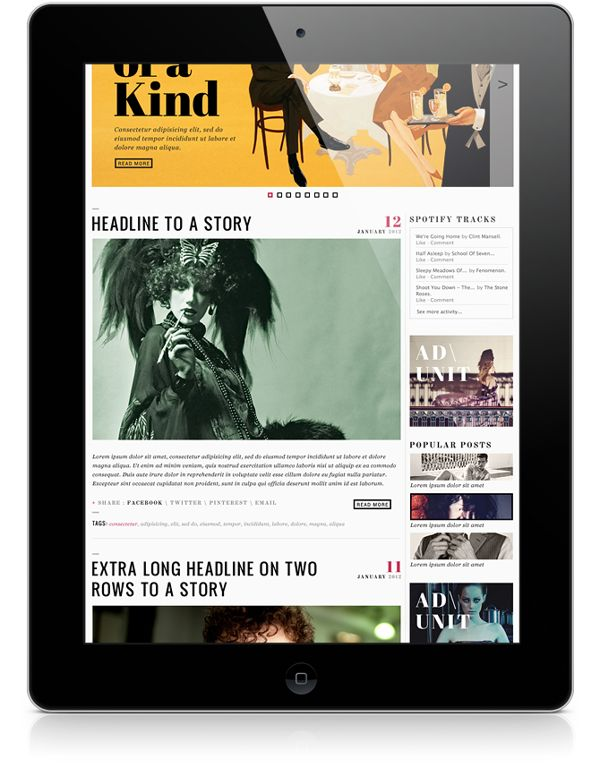 Vault Magazine Website on Web Design Served