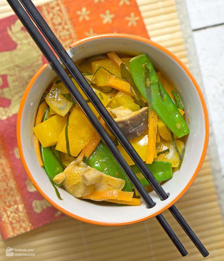 Thai-Curry mit knackigem Gemüse   Madame Cuisine Rezept