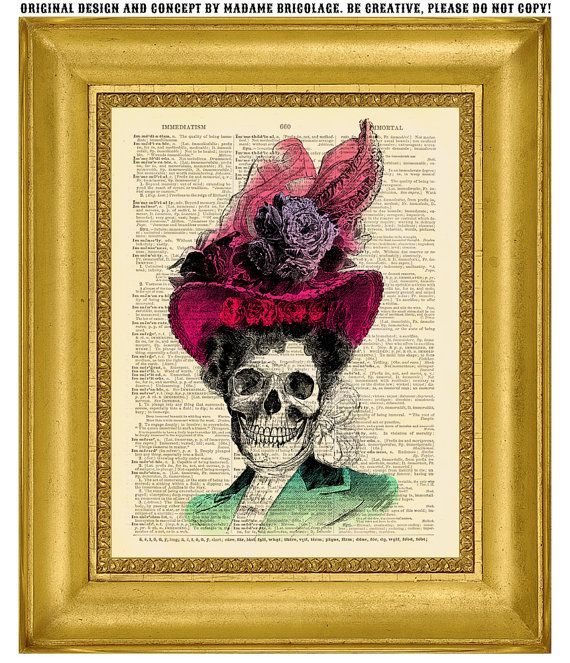 Hey, I found this really awesome Etsy listing at https://www.etsy.com/listing/128878726/victorian-calavera-catrina-original