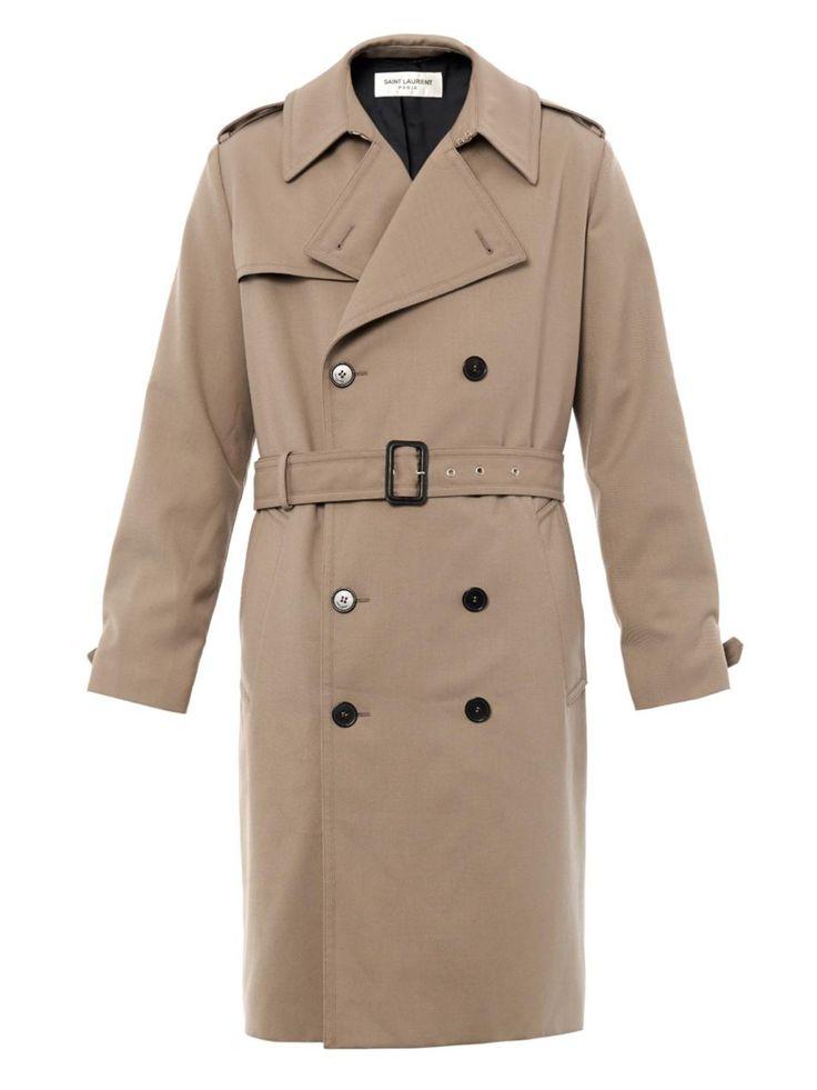 Double-breasted trench coat   Saint Laurent   MATCHESFASHION.COM UK