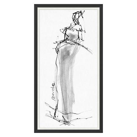 Fashion Sketch Framed Print 1