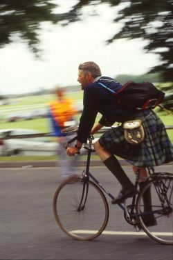 Cycling in a kilt