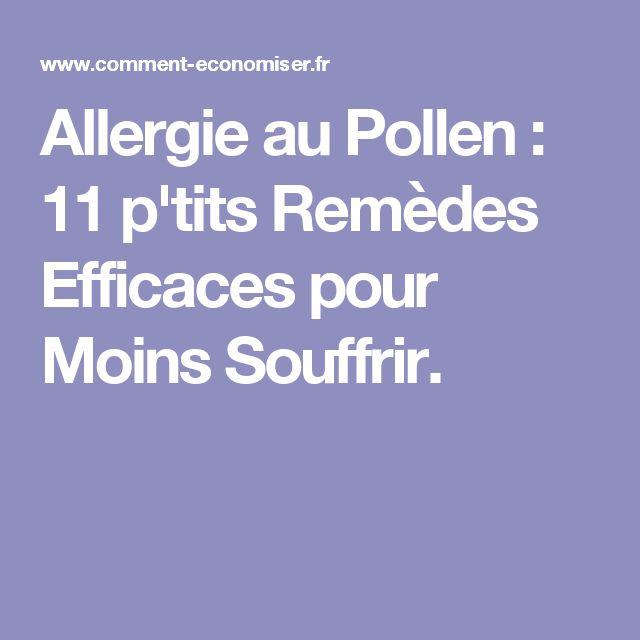 Allergie au Pollen : 11 p'tits Remèdes Efficaces pour Moins Souffrir.