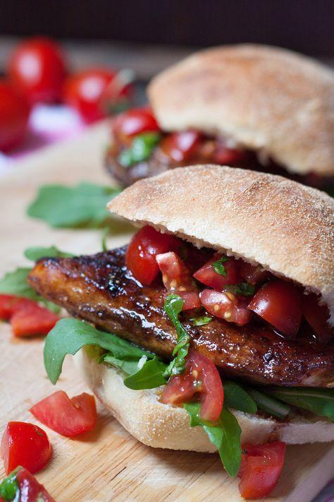 Bruschetta Chicken Burger
